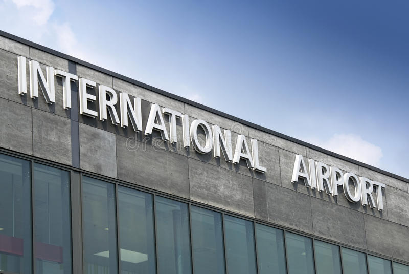 flygplatsinternationaltecken arkivbilder