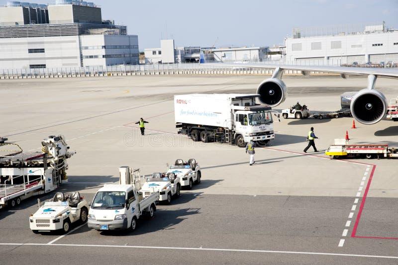 flygplatsjordningspersonal royaltyfria foton