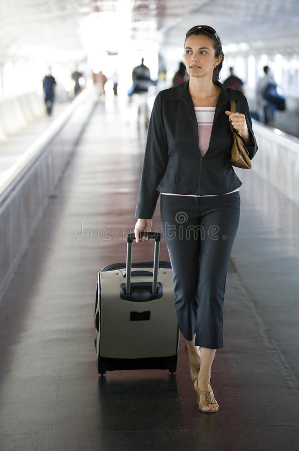 flygplatskvinna arkivbilder