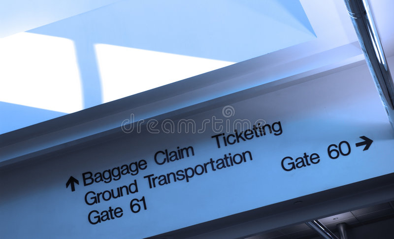 flygplatsriktningar fotografering för bildbyråer