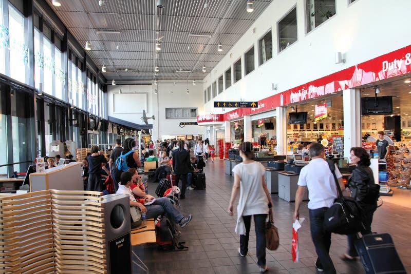 flygplatssandefjord royaltyfri foto