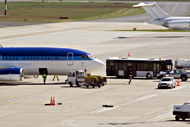 flygplatsserviceanslutning vip royaltyfria bilder