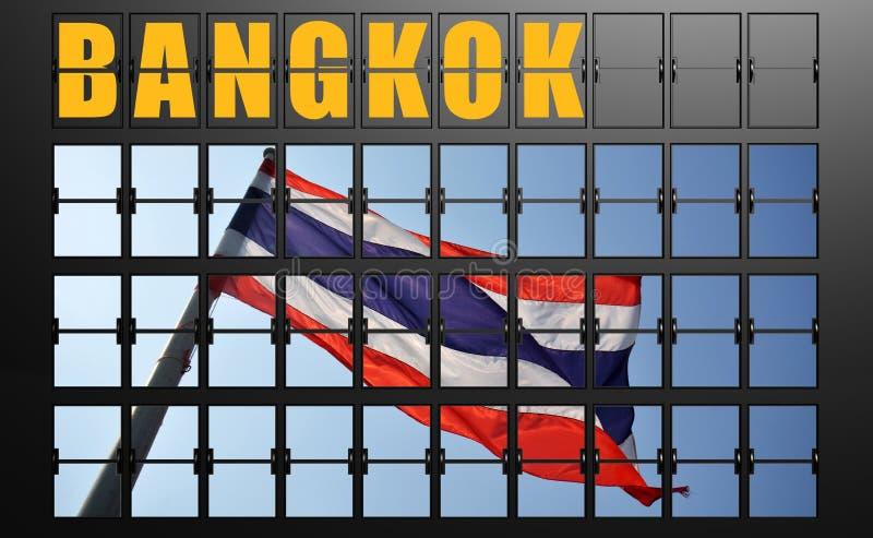 Flygplatsskärmbräde av Bangkok stock illustrationer