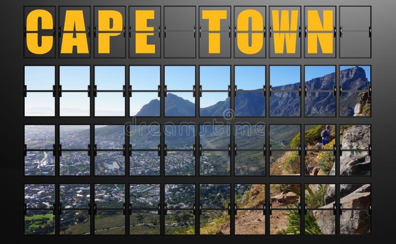 Flygplatsskärmbräde av Cape Town royaltyfri illustrationer