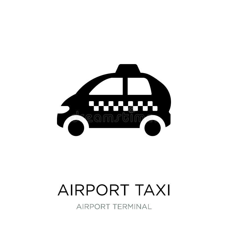 flygplatstaxisymbol i moderiktig designstil flygplatstaxisymbol som isoleras på vit bakgrund enkel symbol för flygplatstaxivektor stock illustrationer