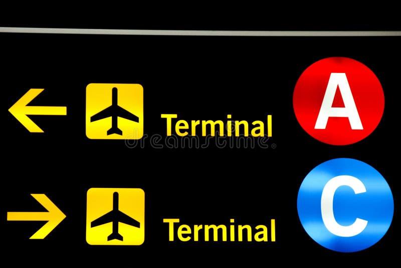 flygplatstecken arkivbild