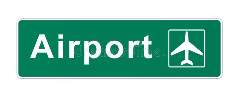Flygplatstecken stock illustrationer
