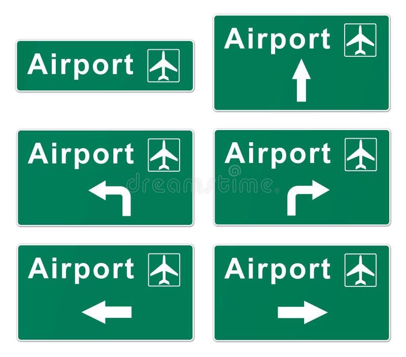 Flygplatstecken vektor illustrationer