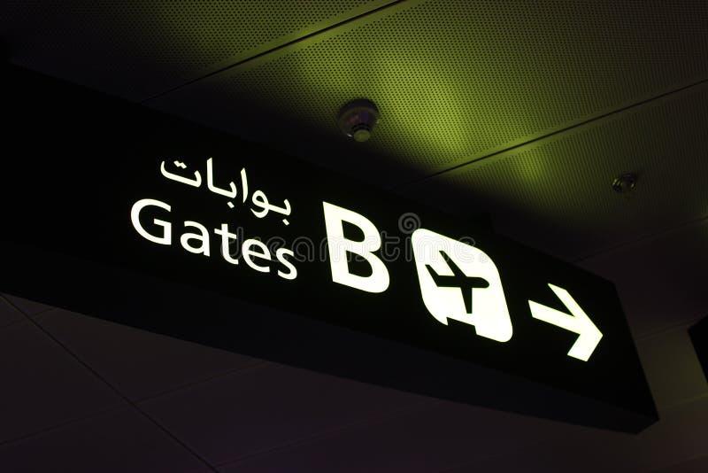 flygplatstecken arkivfoton