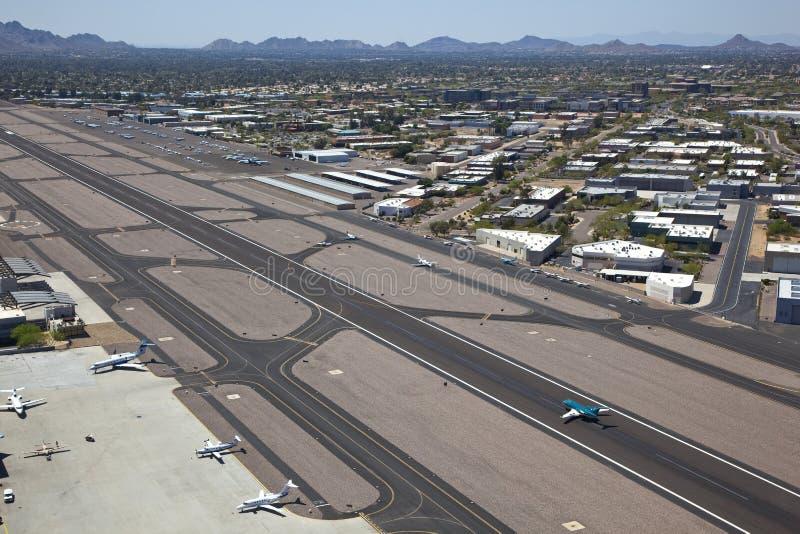 Flygplatstrafik arkivbilder