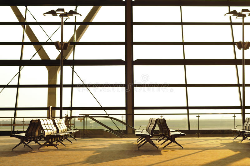 flygplatsvardagsrummorgon royaltyfri fotografi
