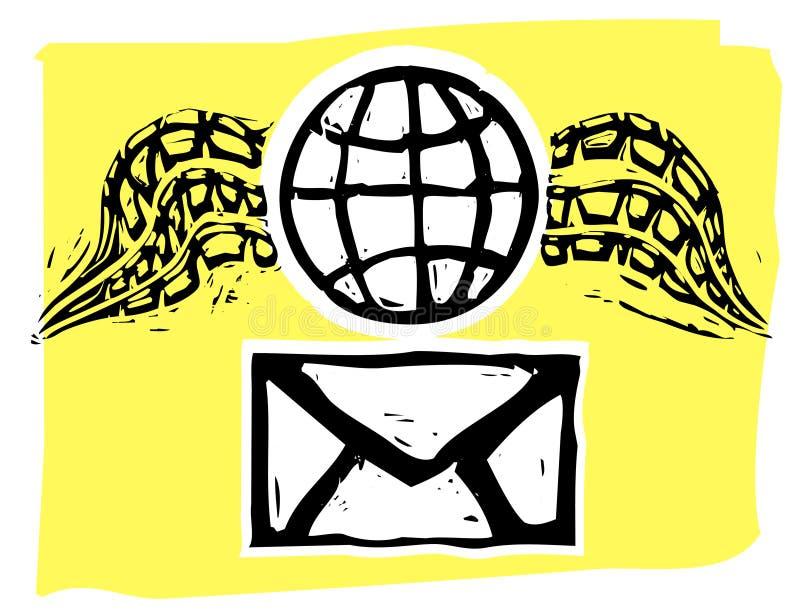 flygpost stock illustrationer