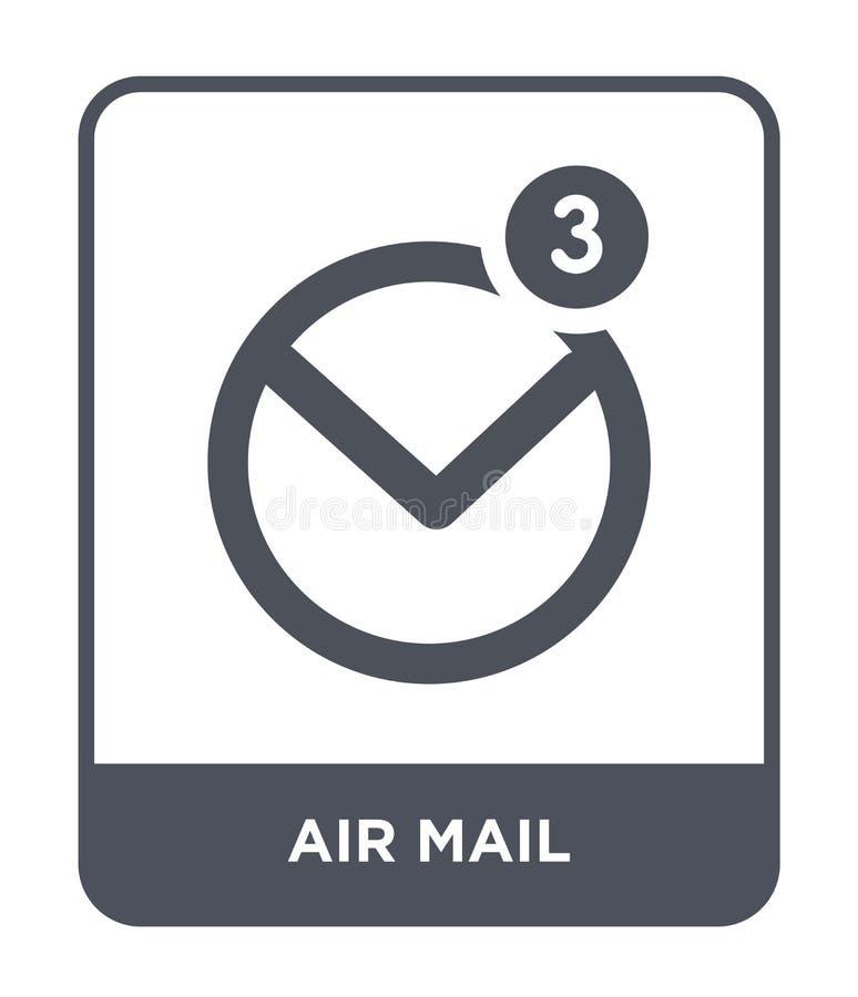 flygpostsymbol i moderiktig designstil flygpostsymbol som isoleras på vit bakgrund enkel och modern lägenhet för flygpostvektorsy vektor illustrationer