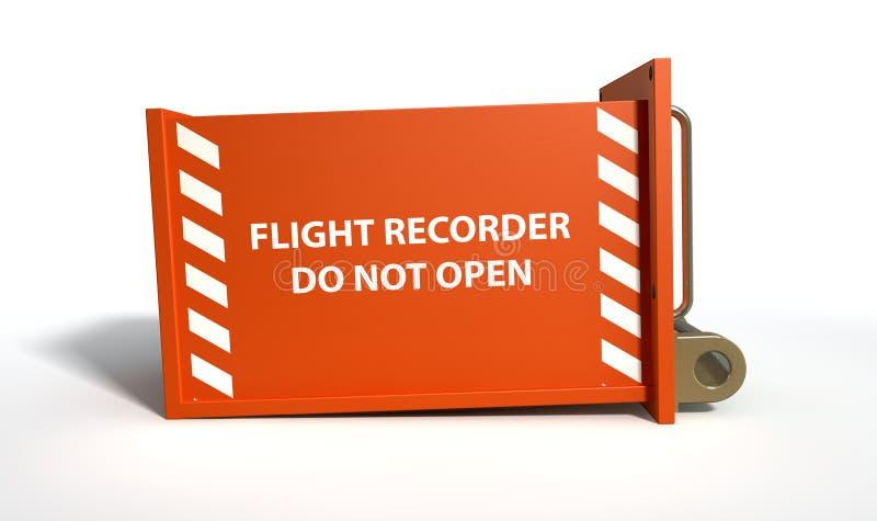 Flygregistreringsapparat royaltyfri illustrationer