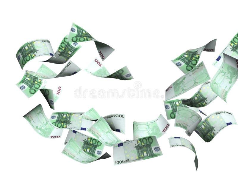 Flygsedlar av euroet royaltyfri illustrationer