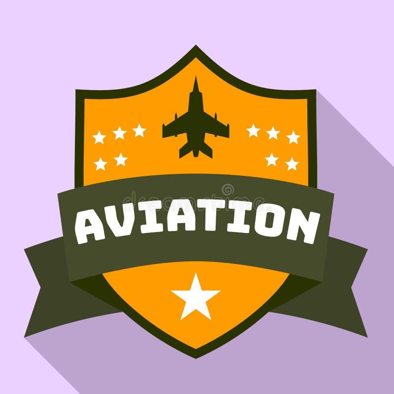 Flygstjärnalogo, plan stil royaltyfri illustrationer