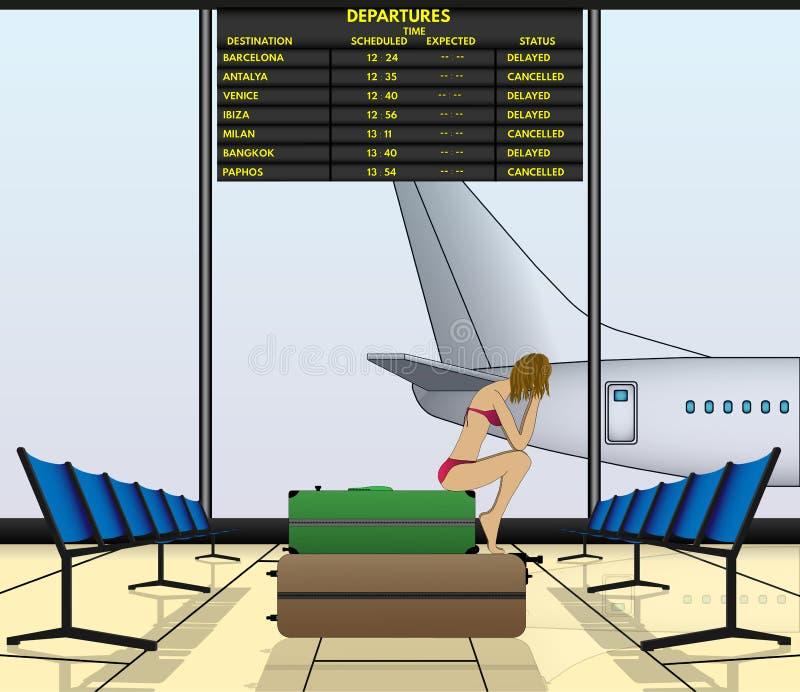 Flygsuspence stock illustrationer