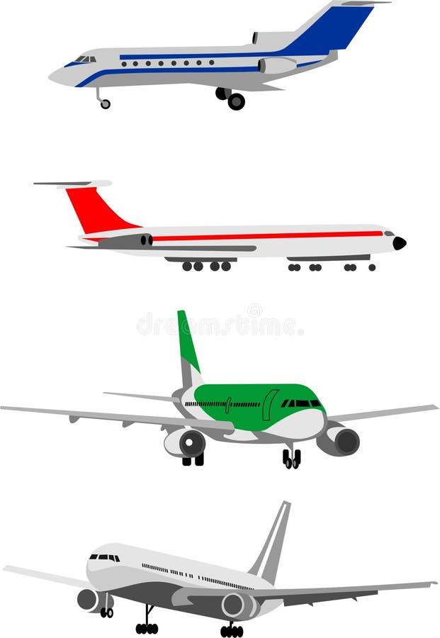 flygtransport royaltyfri illustrationer