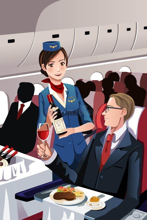 Flygvärdinna stock illustrationer