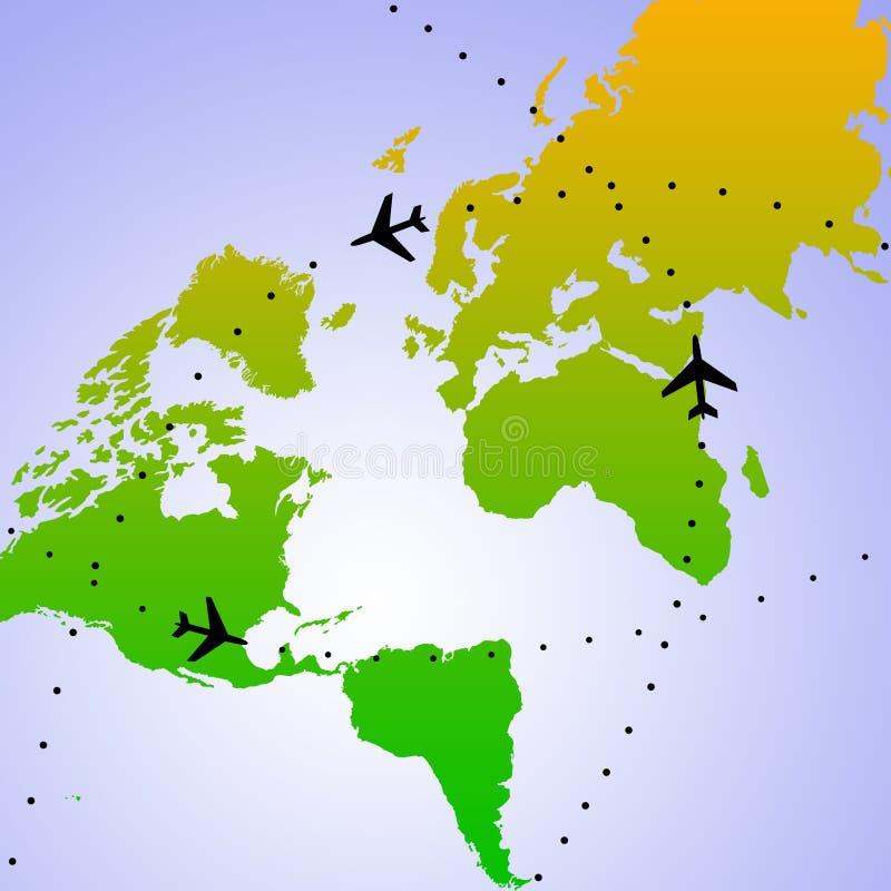 flygvärld stock illustrationer