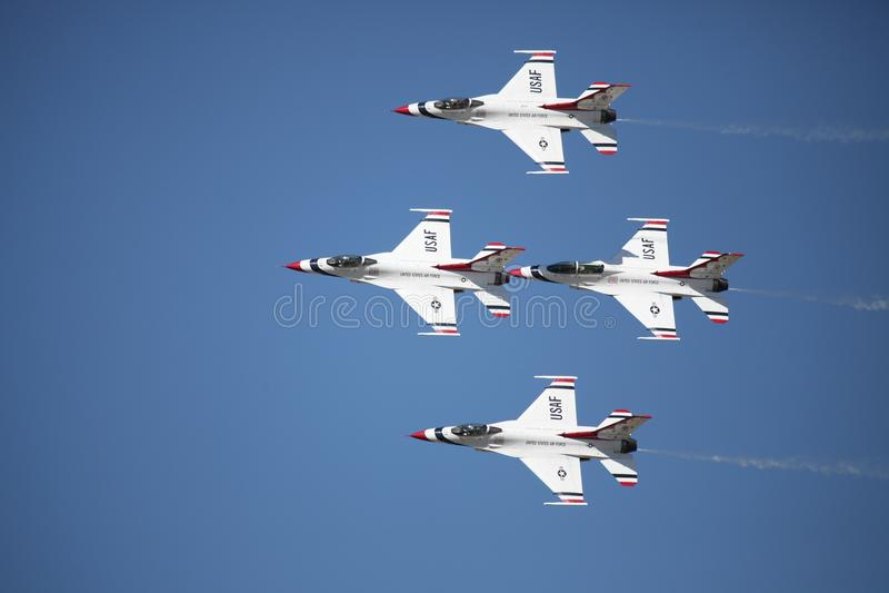 flygvapen anger förenade thunderbirds arkivbilder
