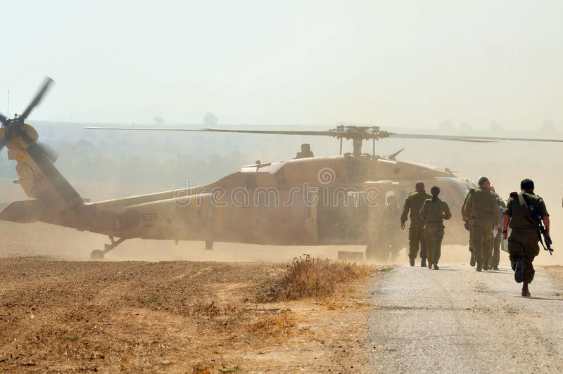 flygvapenhelikopterisrael royaltyfria foton