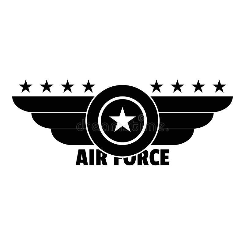 Flygvapenlogo, enkel stil stock illustrationer