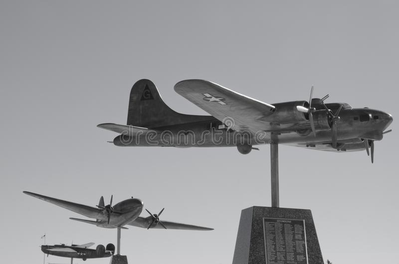 Flygvapennivåskulpturer arkivbilder