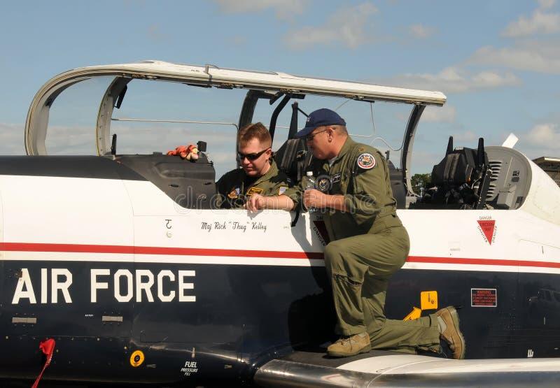 flygvapenpilotutbildning royaltyfri fotografi