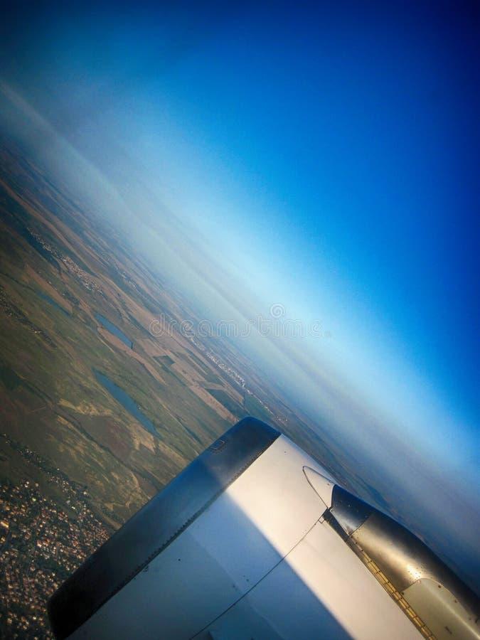 flyiing在天空 免版税库存图片