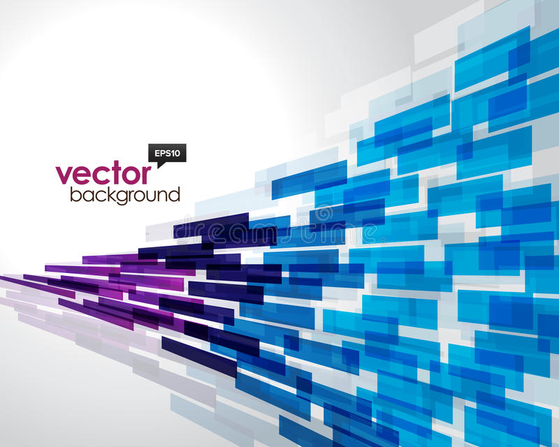 Flying Abstract Background stock illustration
