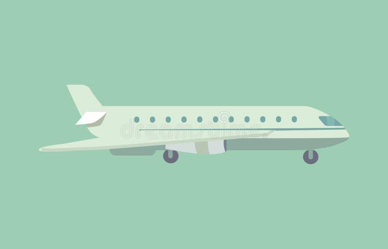 Aircraft Flying Leaving Trace Vector Illustration royalty free illustration
