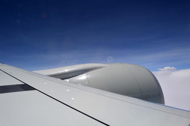 Flying airplane stock images