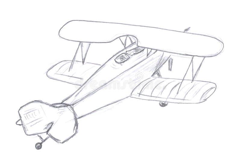 Flying Airplane Sketch Stock Illustration Illustration Of