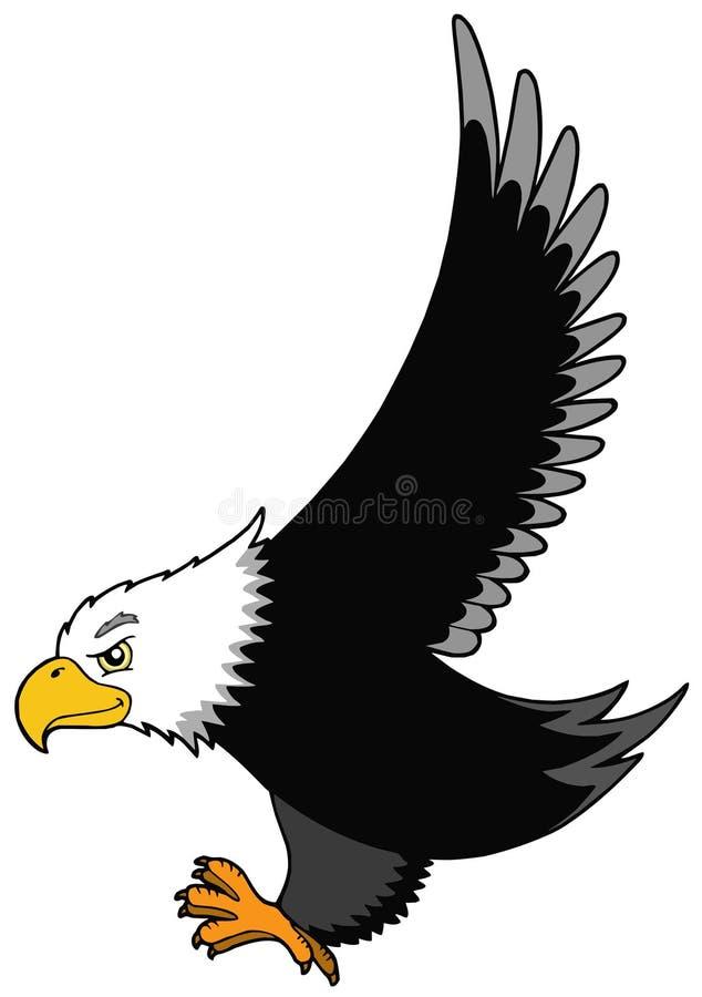 Flying American eagle