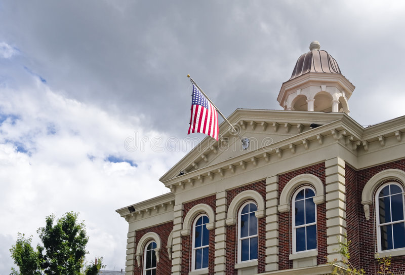 Download Flying American Flag stock image. Image of county, roofline - 4947081