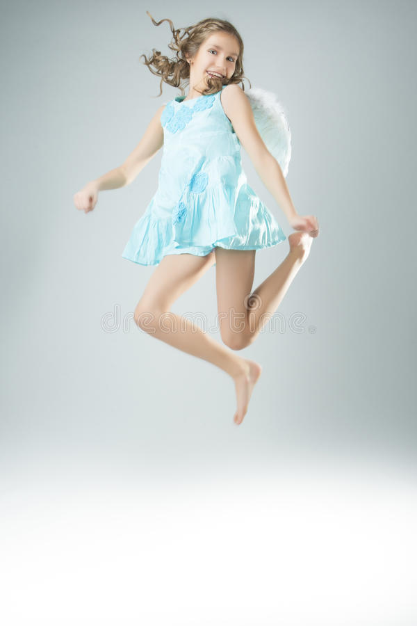 Flying angel royalty free stock image