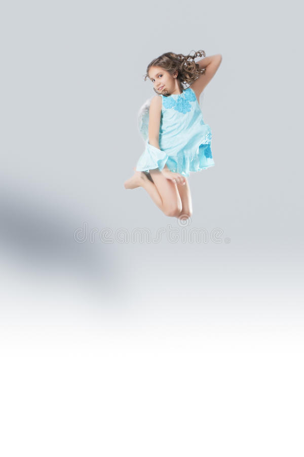 Flying angel stock photography