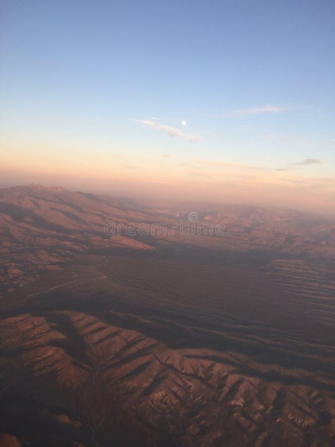 Flying into Arizona royalty free stock image