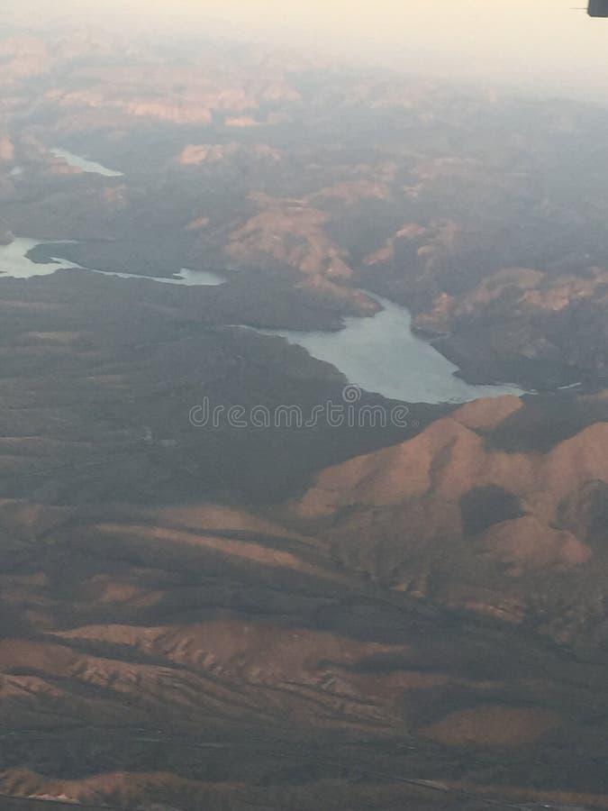 Flying into Arizona royalty free stock images