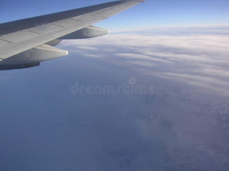 Flying around the world royalty free stock photos