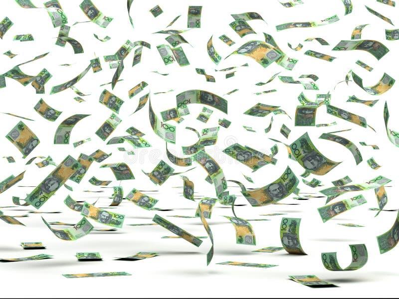 Flying Australian Dollars stock photos