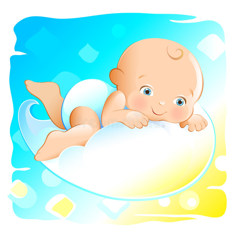 Download Flying Baby Royalty Free Stock Photo - Image: 12787055