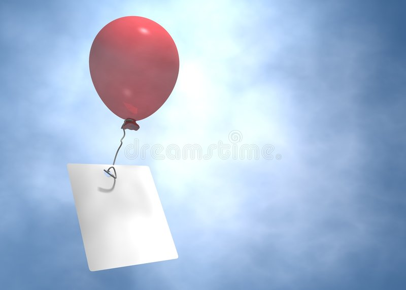 Flying balloon stock illustration