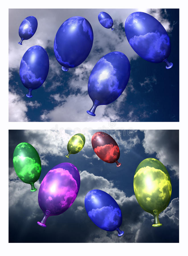 Free Flying Balloons Stock Images - 10859094