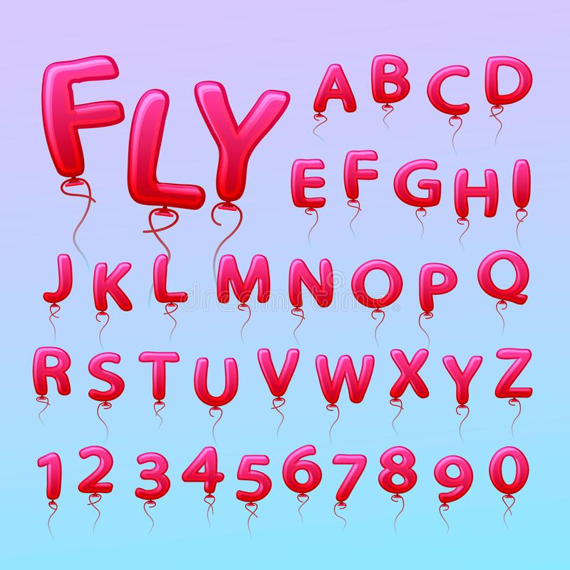 Free Flying Balls In The Form Of Letters Numbers. Stock Photography - 100095002