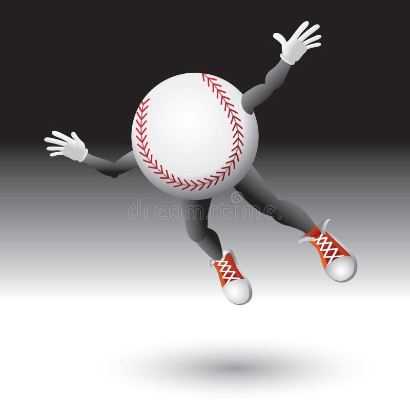 Flying baseball character