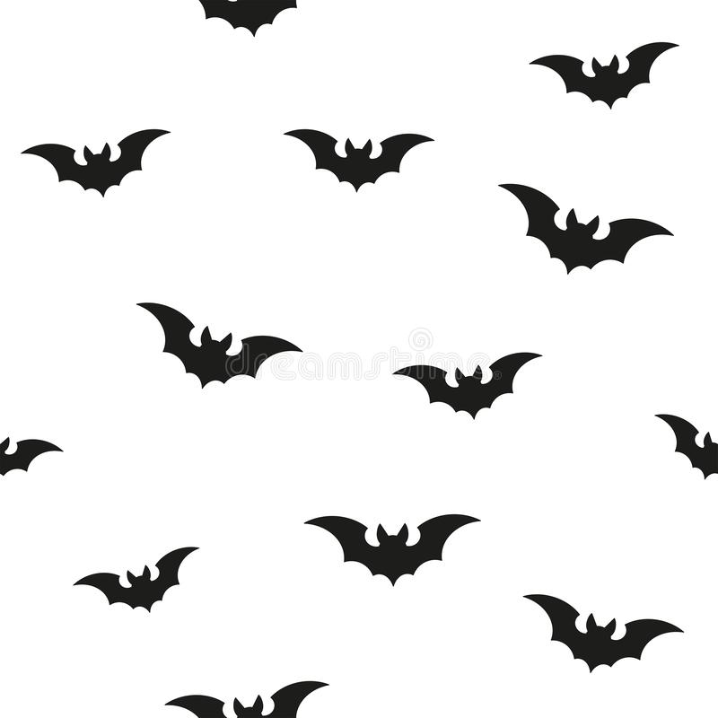 Flying Bats Seamless Vector Pattern Black royalty free stock photo