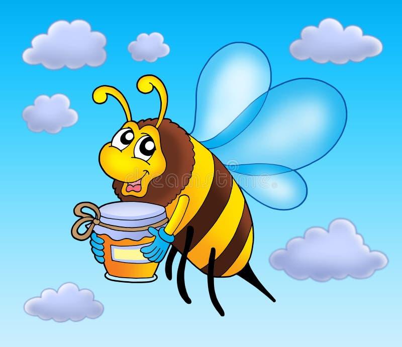 Download Flying bee holding honey stock illustration. Illustration of honey - 6026748