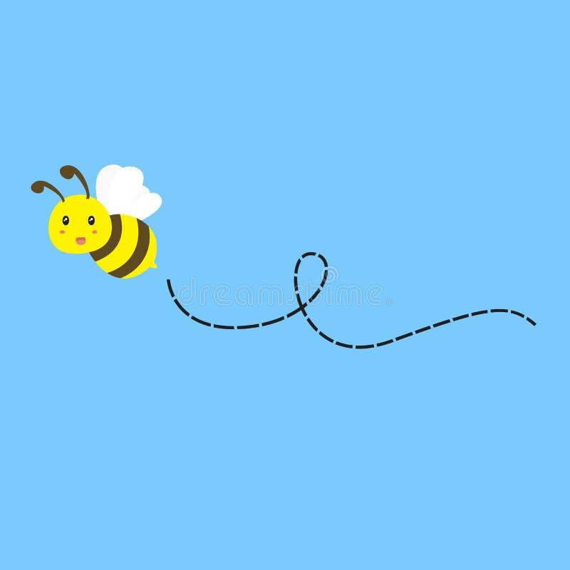 Flying Bee Vector stock illustration